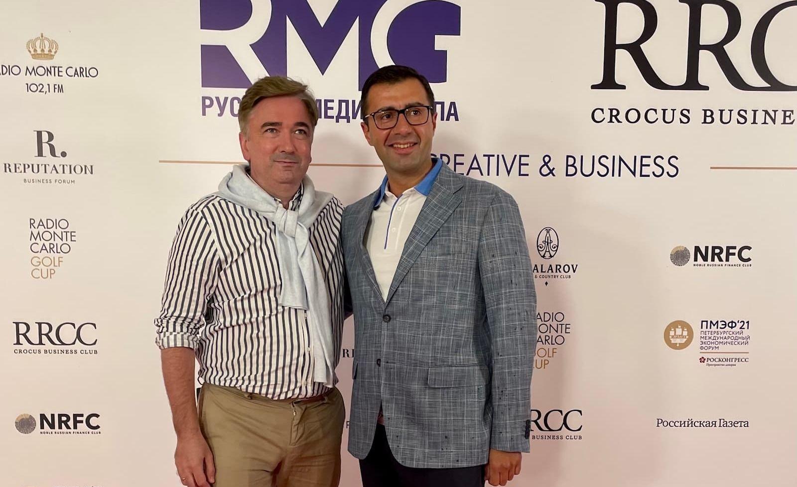 Михаил Трубецкой и Евгений Коровин на форуме Creative & Business